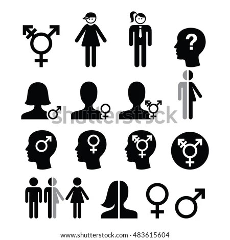 Transgender Symbol Gender Dysphoria Transsexual Concept