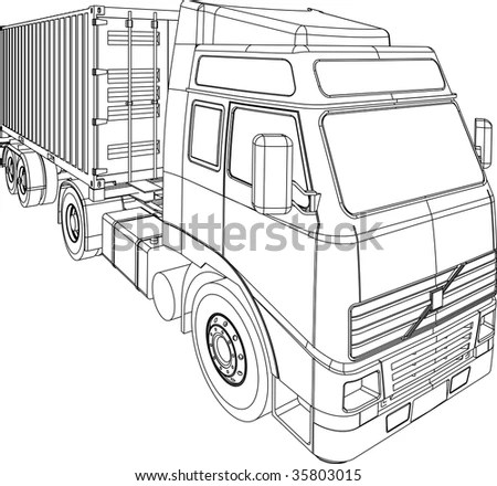 Car Line Draw Insurance Rent Damage Stock Vector 309121715