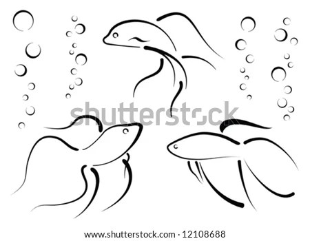 Black And White Fish Stock Images, Royalty-Free Images