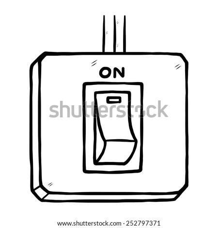 Light Switch Off clip art Free Vector / 4Vector