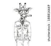 Fashion Illustration Of Giraff...