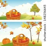 fall scenery graphics free vector