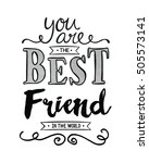Quote Friends Calligraphy Message Free Stock Photo