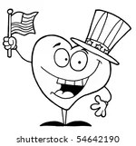 4th of July Character Clip Art, Vector 4th of July