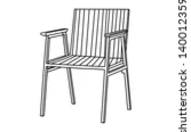 Vector Clip Art Of Folding Chair Sketch Icon Folding