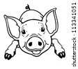 Three Little Pigs. Vector Illustration With Simple