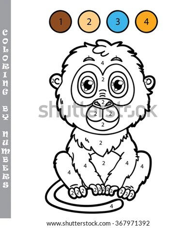 Coloring Small Funny Panda Girl Stock Illustration