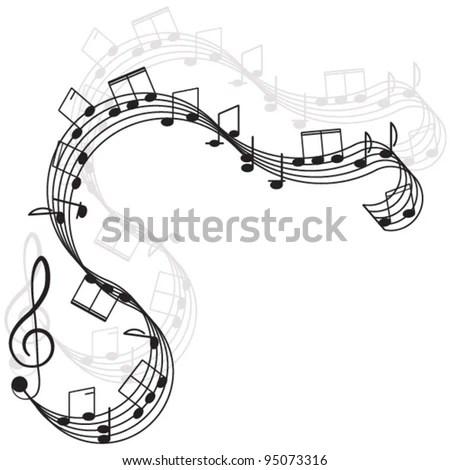 Creative Music Template Flyer Brochure Vector Stock Vector