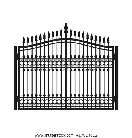 Iron Wrought Gate Grill Window Stock Photos, Royalty-Free