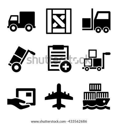Conveyor Belt Line Set On White Stock Vector 584246521
