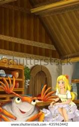 cartoon scene fairy kitchen beetle bug illustration dumbledore children tale tiny shutterstock
