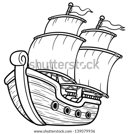 Cartoon Ship Stock Images, Royalty-Free Images & Vectors