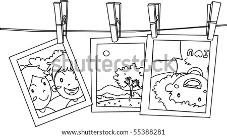 Short Wordless Comic Story Children About Stock Vector