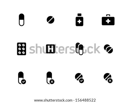 Pills Medication Vector Buttons Set Stock Vector 133677176