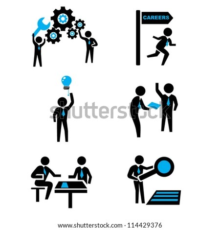 Men At Work Icon Stock Images, Royalty-Free Images