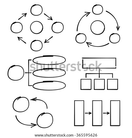 Mind Mapping Sketch Style Stock Vector 109725509
