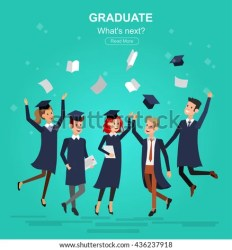 graduation graduate university vector students character shutterstock education courses preview vectors preparation exam banner