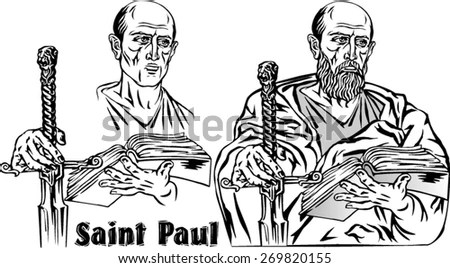 Paul Apostle Christian Religious Leader Stock Vector