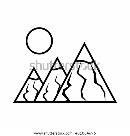 Isolated Forest Mountain Design Stock Vector 525819709