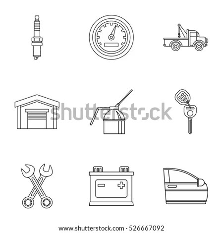 Car Engine Line Drawing Stock Images, Royalty-Free Images