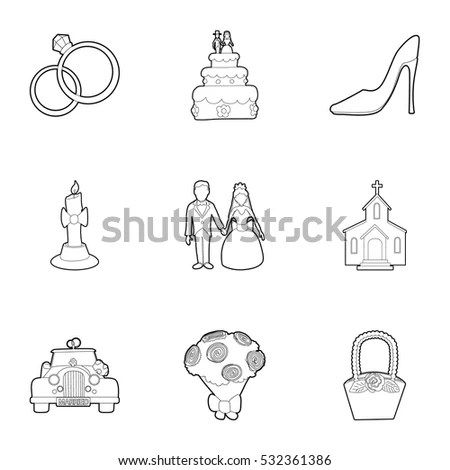 Bride And Groom Icon Stock Images, Royalty-Free Images