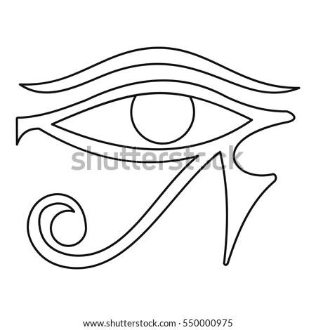 Eye Horus Icon Outline Illustration Eye Stock Vector