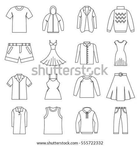 Baby Fashion Baby Clothing Set Vector Stock Vector
