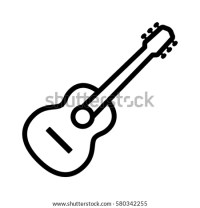 Acoustic Guitar Musical Instrument Line Art Stock Vector ...