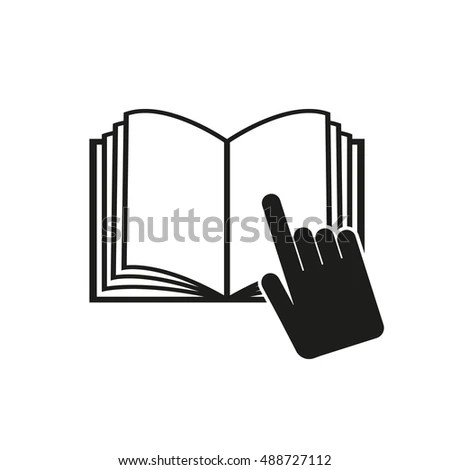 Open Book Icon Manual Tutorial Instruction Stock Vector
