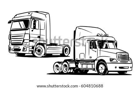 Freightliner Semi Tractor Transport Truck
