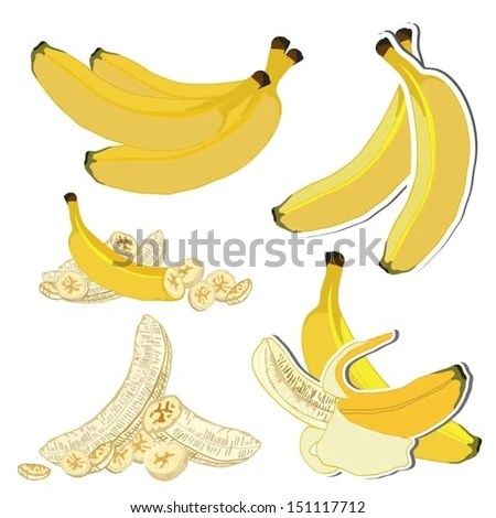 banana slice stock vectors & vector