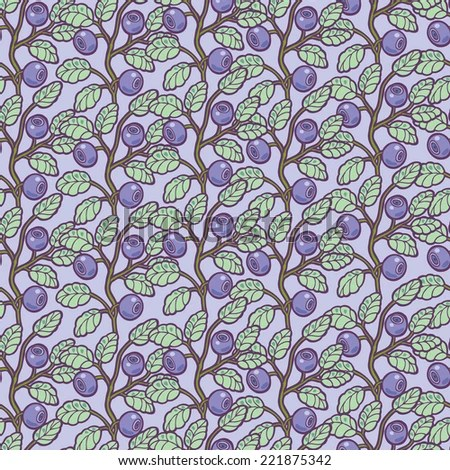 Falling Leaves Wallpaper Blackberry Seamless Blueberry Pattern Stock Images Royalty Free