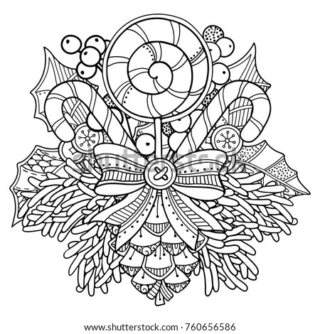 Christmas Coloring Page Stock Images, Royalty-Free Images