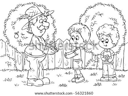 Parable Jesus Christ About Lost Sheep Stock Illustration