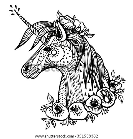 Unicorn Tattoo Stock Images, Royalty-Free Images & Vectors