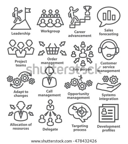 Vector Set 16 Linear Thin Icons Stock Vector 469379144