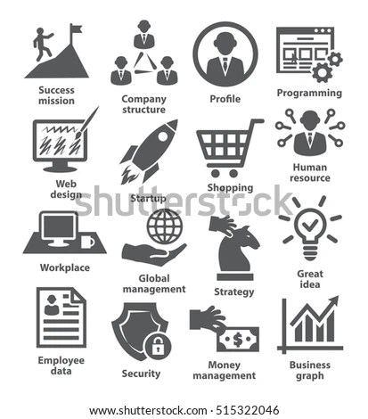 Vector Set Icons Related Career Progress Stock Vector