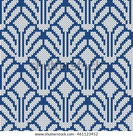 Hipster Fall Wallpaper Seamless Pattern Tribal Art Ikat Ogee Stock Vector