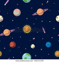 Planets Seamless Pattern Space Background Space Stock ...