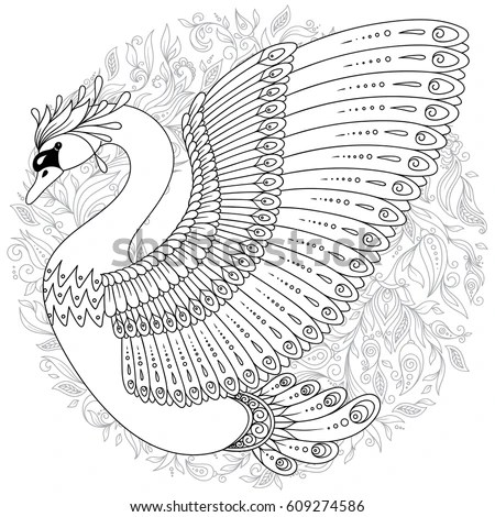 Illustrated Swan Tattoo Stock Images, Royalty-Free Images