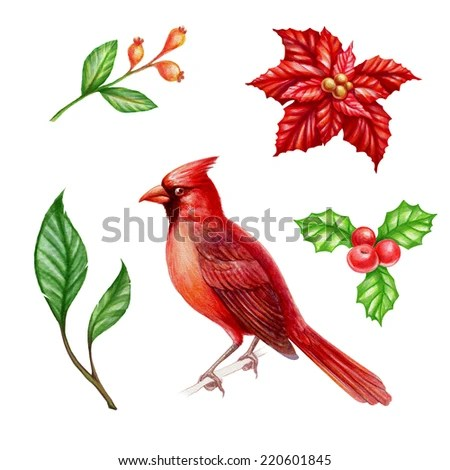 christmas clipart set isolated