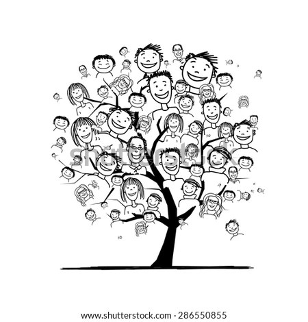 People Tree Your Design Vector Illustration Stock Vector
