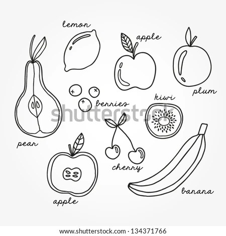 Lemon outline vector Stock Photos, Images, & Pictures