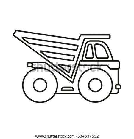 Truck Icons Set Vector Collection Vehicles Stock Vector