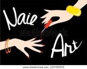 nail polish hand stock