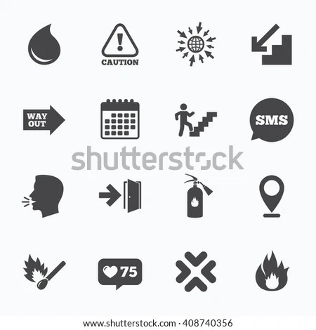 Electricity Icon Sets Vector Symbol Stock Vector 318796376