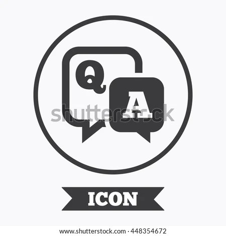 Question Answer Icon Qa Symbol Flat Stock Vector 400447180