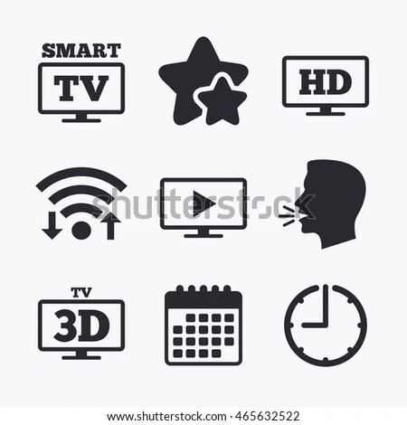 Mobile Telecommunications Icons 3g 4g Lte Stock Vector