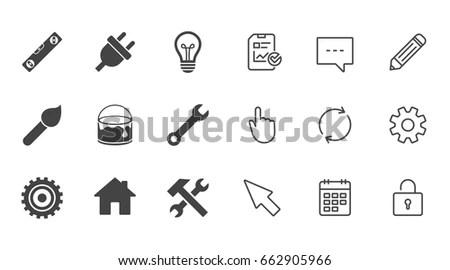 Idea Lamp Electric Plug Background Light Stock Vector