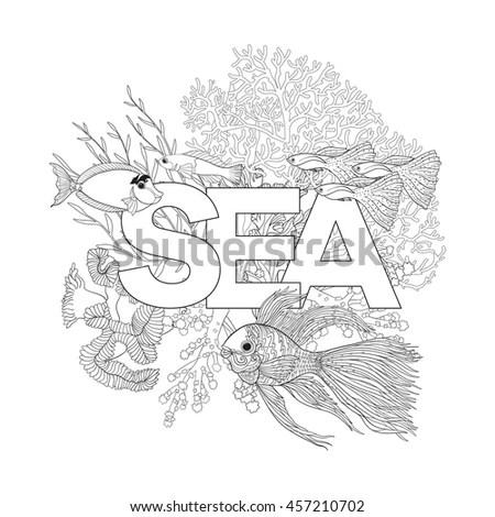 Human Skull Through Which Flowers Tattoo Stock Vector